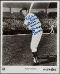 Autographs:Photos, Mickey Mantle Signed Promotional Photograph. ...