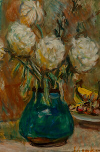 Sigmund Joseph Menkes (American, 1896-1986) Still Life with Flowers Oil on canvas 20 x 13 inches