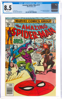 The Amazing Spider-Man #177 (Marvel, 1978) CGC VF+ 8.5 White pages