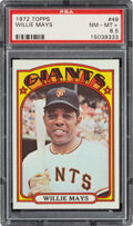 Baseball Cards:Singles (1970-Now), 1972 Topps Willie Mays #49 PSA NM-MT+ 8.5. Offered...