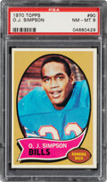 Football Cards:Singles (1970-Now), 1970 Topps O.J. Simpson #90 PSA NM-MT 8. Offered i...
