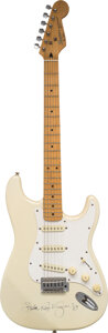 Musical Instruments:Electric Guitars, Stevie Ray Vaughan Signed and Inscribed Fender Squire II S...