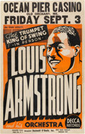 Music Memorabilia:Posters, Louis Armstrong 1937 Old Orchard Beach, Maine Concert Poster....