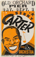 Music Memorabilia:Posters, Benny Carter 1939 Old Orchard Beach, Maine Concert Poster....