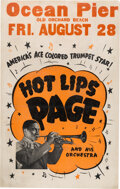 Music Memorabilia:Posters, Hot Lips Page 1936 Old Orchard Beach, Maine Concert Poster....