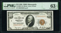 Fr. 1860-I $10 1929 Federal Reserve Bank Note. PMG Choice Uncirculated 63 EPQ
