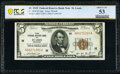Fr. 1850-H $5 1929 Federal Reserve Bank Note. PCGS Banknote About Unc 53