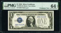Small Size:Silver Certificates, Changeover Pair Fr. 1600/1601 $1 1928/1928A Silver Certificates. PMG Choice Uncirculated 64 EPQ.. ... (Total: 2 notes)