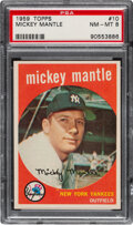 Baseball Cards:Singles (1950-1959), 1959 Topps Mickey Mantle #10 PSA NM-MT 8. Offered ...