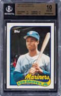 Baseball Cards:Singles (1970-Now), 1989 Topps Traded Ken Griffey Jr. #41T BGS Pristine 10....