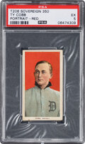 Baseball Cards:Singles (Pre-1930), 1909-11 T206 Sovereign 360 Ty Cobb (Portrait-Red) PSA EX 5 - Only One Higher for Brand....