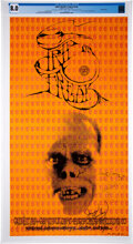 """Music Memorabilia:Posters, Grateful Dead, Big Brother 1967 """"Trip or Freak"""" Concert Poster Signed and Graded (AOR-2.183)...."""