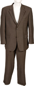 Music Memorabilia:Costumes, Ray Charles Personally Owned Suit by Donald J. Trump Luxury Separates With Bally Shoes....