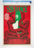 """Music Memorabilia:Posters, FD-6 Big Brother & Holding Company 1966 """"Sin Dance"""" Concert Poster CGC-Graded 9.8. ..."""