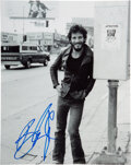 Music Memorabilia:Autographs and Signed Items, Bruce Springsteen Signed Photo Print....