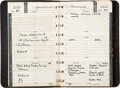 Music Memorabilia:Documents, John Bauer Concert Company Address Book With Contact Numbers and Backstage Passes (circa 1970s)....
