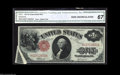 Error Notes:Large Size Errors, Fr. 37 $1 1917 Legal Tender CGA Gem New 67. A neat ...