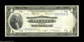 Error Notes:Large Size Errors, Fr. 726 $1 1918 Federal Reserve Bank Note Very Fine. A ...
