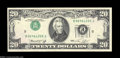 Error Notes:Inverted Third Printings, Fr. 2071-F $20 1974 Federal Reserve Note. Gem Crisp ...