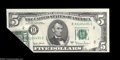 Error Notes:Foldovers, Fr. 1974-B $5 1977A Federal Reserve Note. Choice Crisp ...