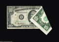 Error Notes:Foldovers, Fr. 2011-E* $10 1950A Federal Reserve Note. Extremely Fine.