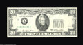 Error Notes:Foldovers, Fr. 2023-K $20 1977 Federal Reserve Note. Gem Crisp ...