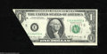 Error Notes:Attached Tabs, Fr. 1905-E $1 1969B Federal Reserve Note. Crisp Uncirculated....