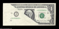 Error Notes:Major Errors, Fr. 1922-J* $1 1995 Federal Reserve Note. About Uncirculated....