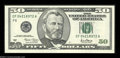 Error Notes:Major Errors, Fr. 2127-F $50 2001 Federal Reserve Note. Gem Crisp ...