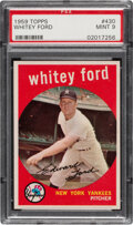 Baseball Cards:Singles (1950-1959), 1959 Topps Whitey Ford #430 PSA Mint 9. Offered is...