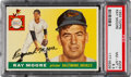 Baseball Cards:Singles (1950-1959), 1955 Topps Ray Moore #208 PSA NM-MT+ 8.5 - Only Three High...