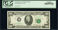 Small Size:Federal Reserve Notes, Fr. 2072-F* $20 1977 Federal Reserve Star Note. PCGS Gem New 66PPQ.. ...