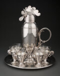 Silver & Vertu, Wallace Brothers Silver Company (American). Eight-Piece Cocktail Set, circa 1928. Silver-plated metal,...