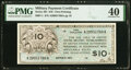 Military Payment Certificates:Series 461, Series 461 $10 First Printing PMG Extremely Fine 40.. ...