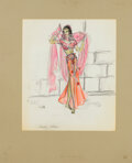 Movie/TV Memorabilia:Original Art, Charles Le Maire Costume Sketch Attributed to The Story of Ruth (TCF, 1960). ...