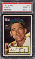 Baseball Cards:Singles (1950-1959), 1952 Topps Al Dark #351 PSA NM-MT 8. Offered is a ...