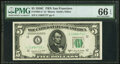 Small Size:Federal Reserve Notes, Fr. 1964-L* $5 1950C Federal Reserve Star Note. PMG Gem Uncirculated 66 EPQ.. ...