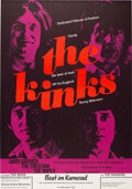 """Music Memorabilia:Posters, The Kinks 1967 Munich, Germany """"No. 1 in England"""" Concert Poster...."""