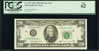 Fr. 2077-H* $20 1990 Federal Reserve Star Note. PCGS New 62