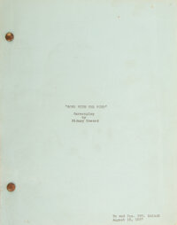 Producer David O. Selznick's Historic Gone with the Wind Screenplay and Research Archive (MG
