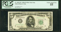 Small Size:Federal Reserve Notes, Fr. 1961-H* $5 1950 Wide I Federal Reserve Star Note. PCGS...