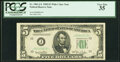 Small Size:Federal Reserve Notes, Low Serial Number 818 Fr. 1961-J* $5 1950 Wide I Federal R...