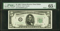 Small Size:Federal Reserve Notes, Fr. 1961-K $5 1950 Wide I Federal Reserve Note. PMG Gem Un...