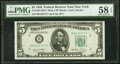 Small Size:Federal Reserve Notes, Fr. 1961-B* $5 1950 Wide I Federal Reserve Star Note. PMG ...