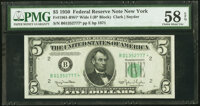 Fr. 1961-B* $5 1950 Wide I Federal Reserve Star Note. PMG Choice About Unc 58 EPQ