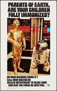 Star Wars Immunization Poster (U.S. Department of Health, Education, and Welfare, 1979). Rolled, Very Fine+. Second Prin...