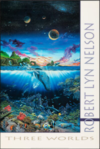 """Three Worlds by Robert Lyn Nelson & Other Lot (1991). Rolled, Very Fine+. Art Print Poster (24"""" X 36"""") &am..."""
