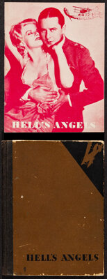 """Hell's Angels (United Artists, 1930). Fine/Very Fine. Programs (2) (5.25"""" X 7"""" - Hard Cover) & (5"""" X..."""