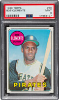 Baseball Cards:Singles (1960-1969), 1969 Topps Roberto Clemente #50 PSA Mint 9. With o...
