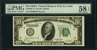 Fr. 2001-H $10 1928A Federal Reserve Note. PMG Choice About Unc 58 EPQ
